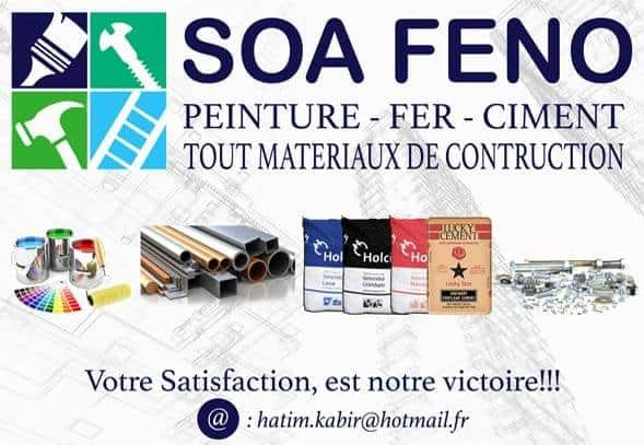 Matériaux de construction Tamatave Quincaillerie SOA FENO