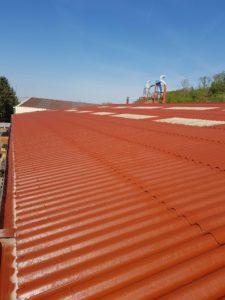 Étanchéité peinture Airless toiture Tamatave DURAND COLOR