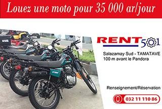 Location de moto 125cc Tamatave RENT 501