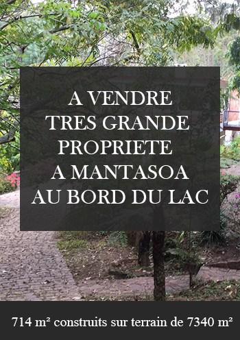 Propriete Villa A Vendre Mantasoa Bord De Lac