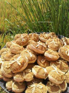 Artisanat vétiver Madagascar Cœur en vétiver absorbe mauvaises odeurs