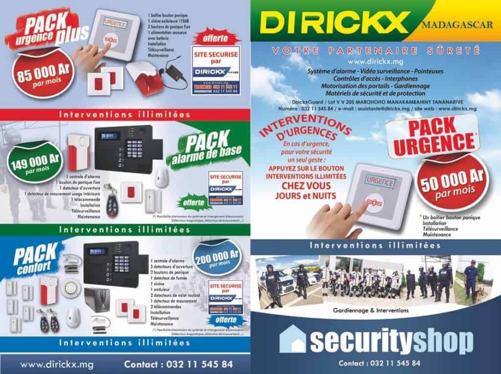 Dirickx Produits Services Surveillances Alarmes Gardien Sécurité Mada Tana