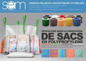 Société D'Emballage De Madagascar Emballage Plastique Tissé Toile Tana Mada