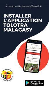 INSTALLER LAPPLICATION TOLOTRA MALAGASY